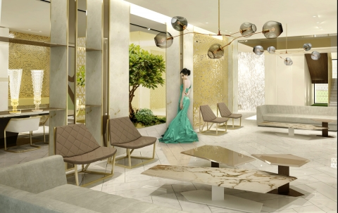 Villa KK Egypt- Salon by ADG interiors
