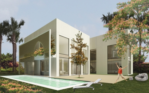 Villa KK Egypt- Facade by ADG interiors