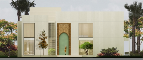 Villa KK Egypt- Main facade by ADG interiors