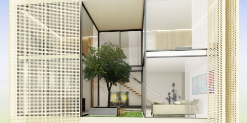 Allée Des Arts by ADG interiors - Duplex view from outside