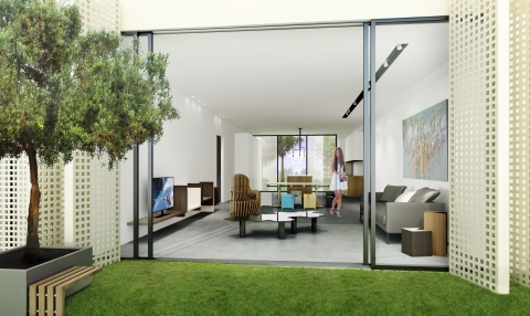 Allée Des Arts by ADG interiors - Simplex view from outside